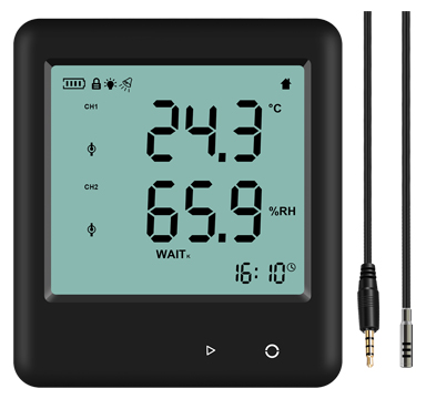 Big LCD Alert Temperature Humidity Logger